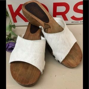 Shoes - KORS, Michael Kors White Hair Calf Sandals